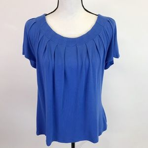 George Pleated Front Tee Shirt M